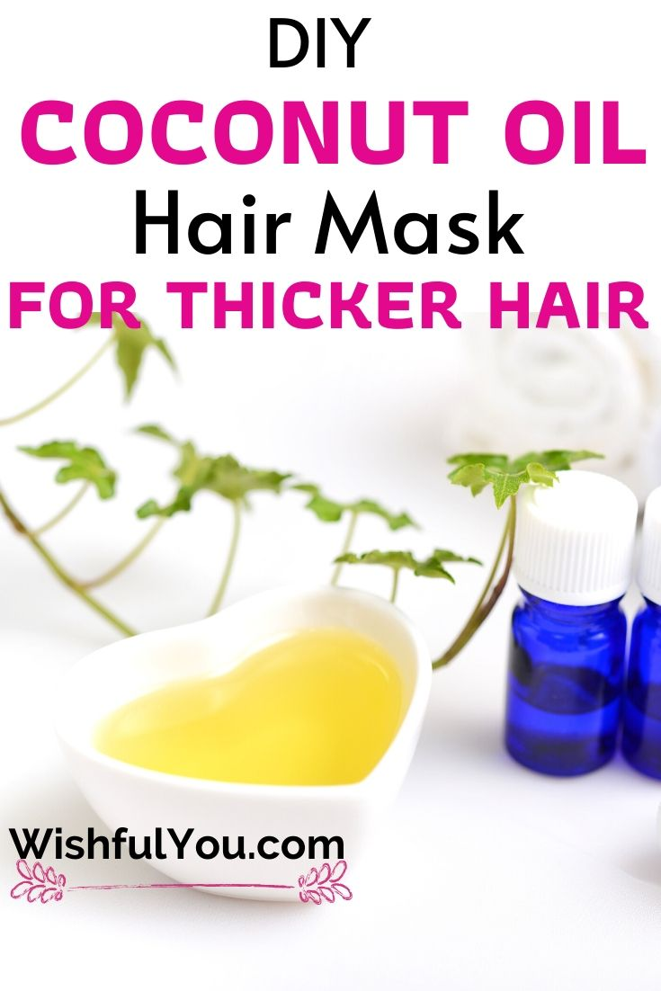 coconut oil hair mask for thicker hair