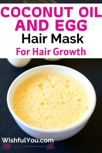 Egg And Coconut Oil Hair Mask For Hair Growth